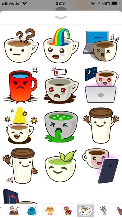 Cup Cute Pun Funny Stickers screenshot 2