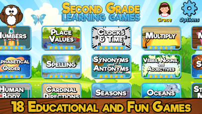 Second Grade Learning Games screenshot 1