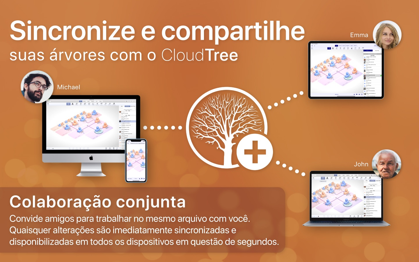 Screenshot do app MacFamilyTree 8