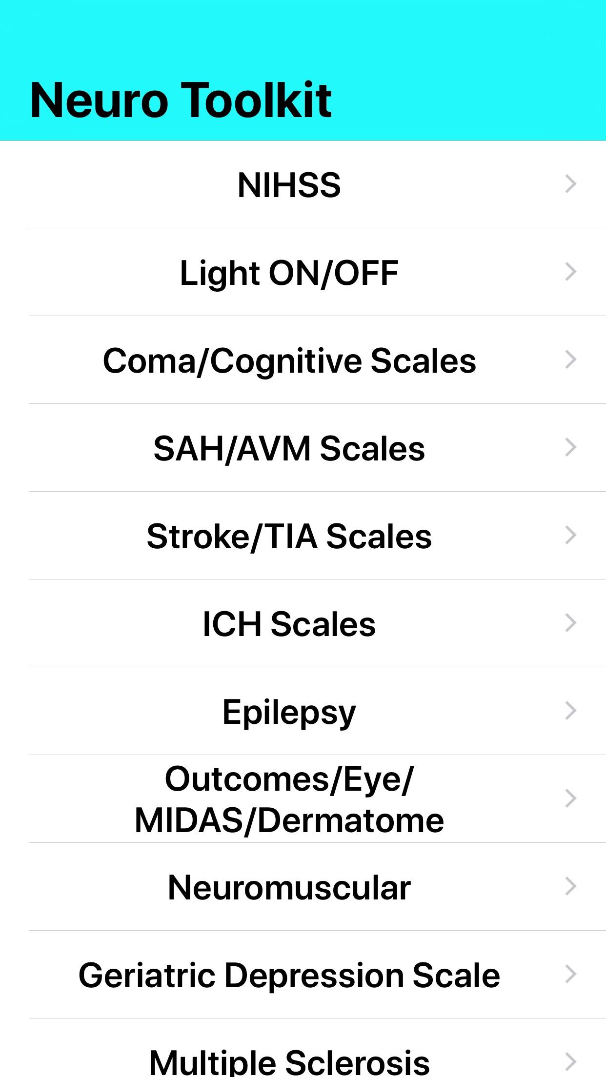 Neuro Toolkit Screenshot