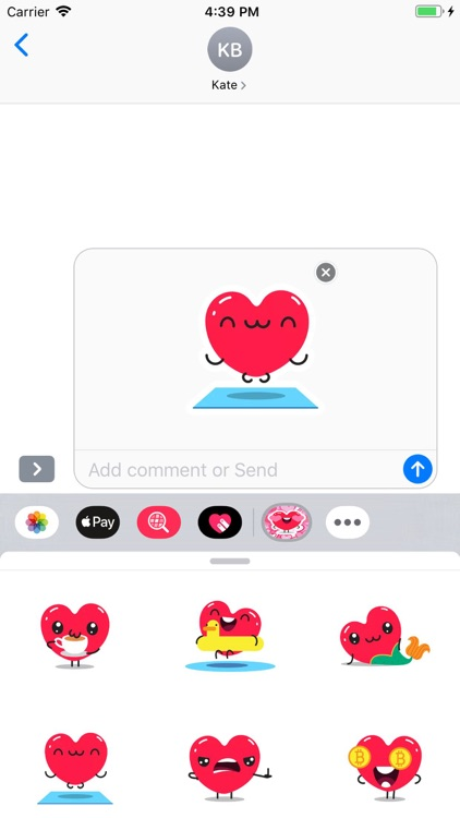 Sweety Hearts Stickers Pack screenshot-5