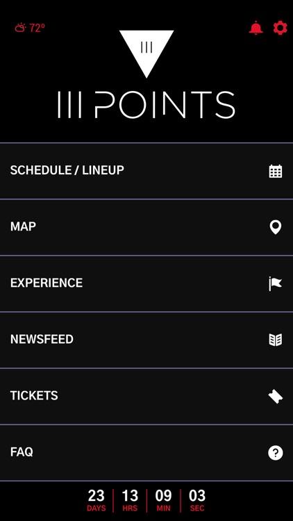 III Points Music Festival App