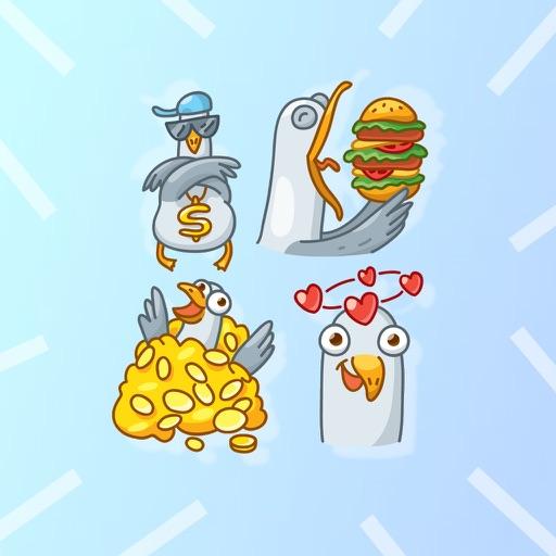 Seagull Emoji Stickers