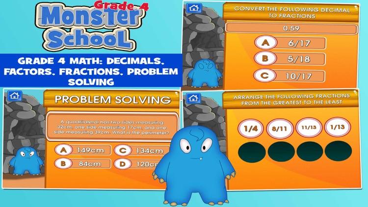 Monsters Grade 4 School Game screenshot-4