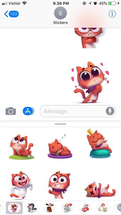 Cat Cute Pun Funny Stickers screenshot 3