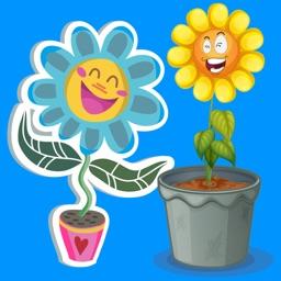 Flower Power Emoji Stickers