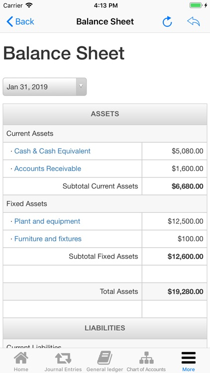 Nano Balance Sheet screenshot-0