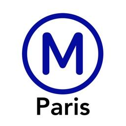 Paris Metro Map.