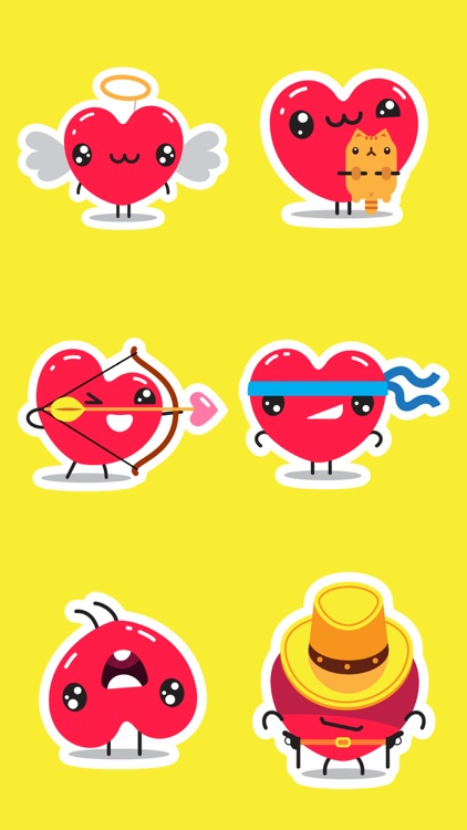Funny Hearts to send LOVE emo