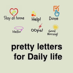 Pretty letters for Daily life