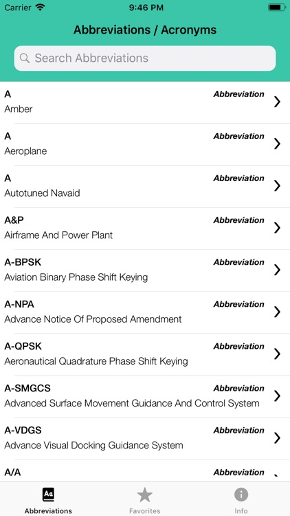 Pilot Abbreviations & Acronyms screenshot-1