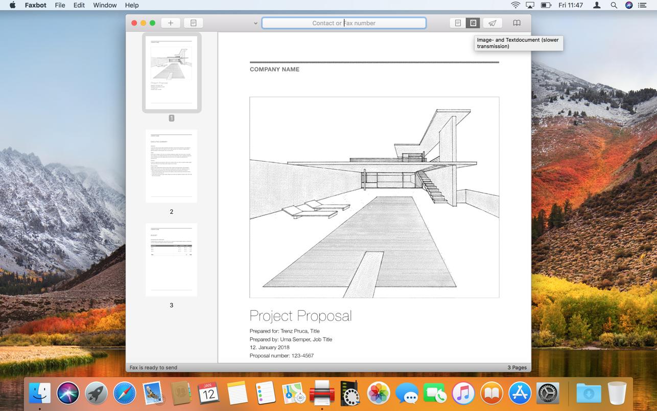 Faxbot 2.6 Mac 破解版 智能传真机