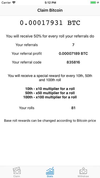 Claim Bitcoin screenshot-3