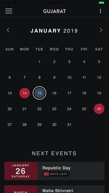 India Holiday Calendar