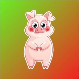 Cute Pig Pink Sticker