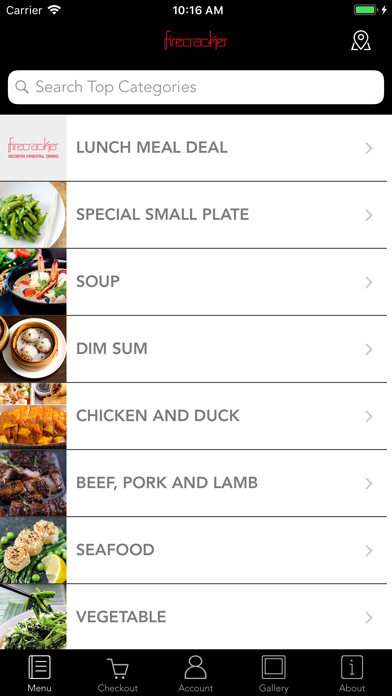 Firecracker Ordering App screenshot two
