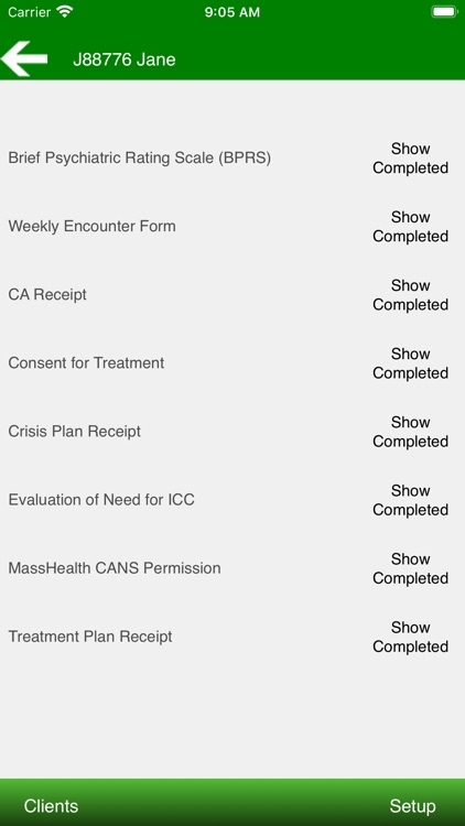 Therapist Forms