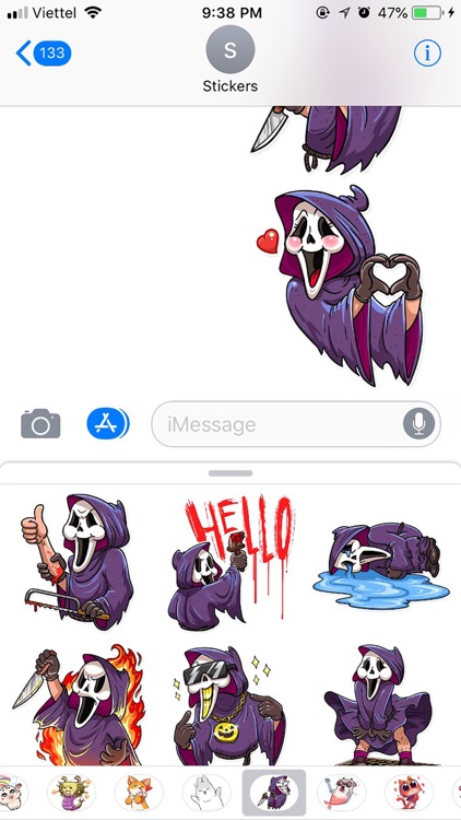Halloween Death Funny Stickers