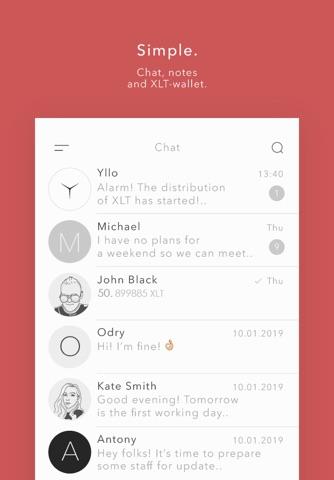 Yllo Messenger - náhled