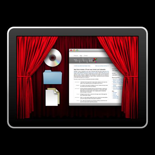 挡住图标的小应用 Desktop Curtain
