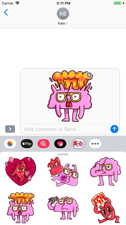 Brain Stickers Pack screenshot-6