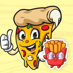 Pizza and French Fries Sticker