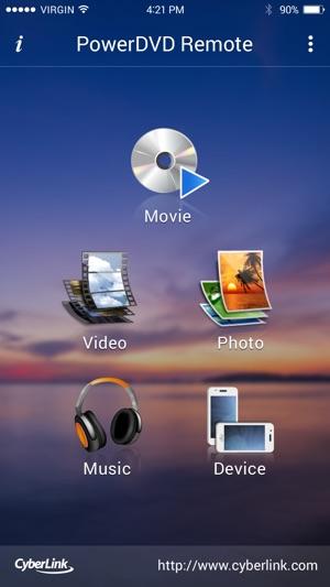 PowerDVD Remote App on the App Store