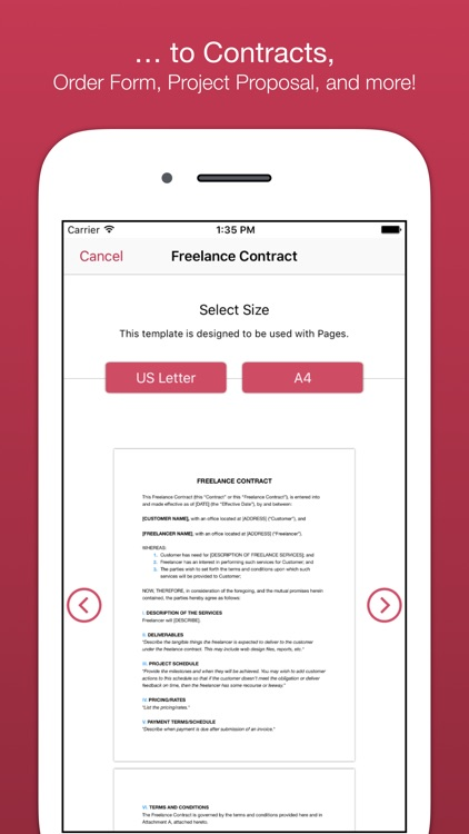 Business Templates for Pages