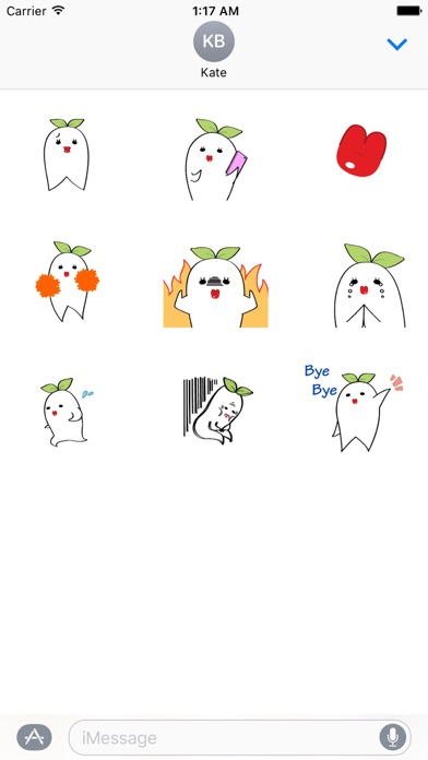 Animated Charming Radish Emoji screenshot 2