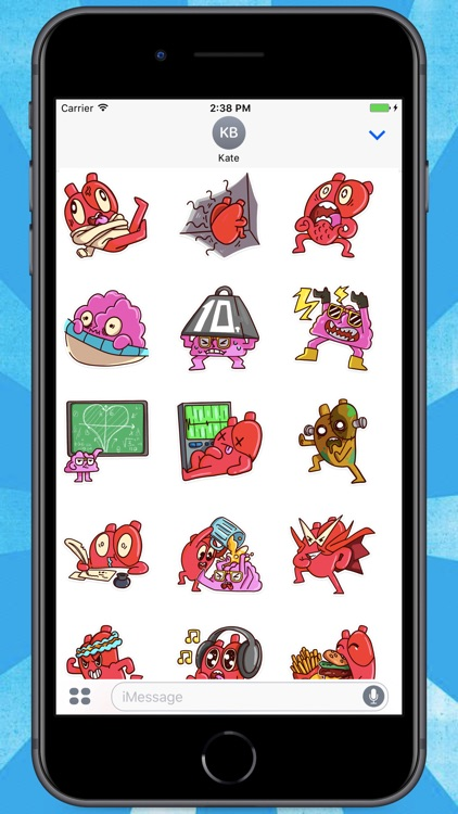 Heart and Brain! Stickers