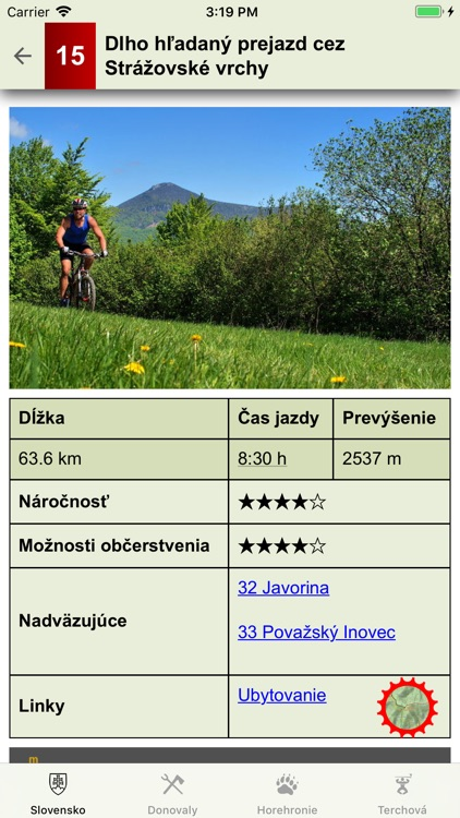 Slovensko MTB - cyklotrasy