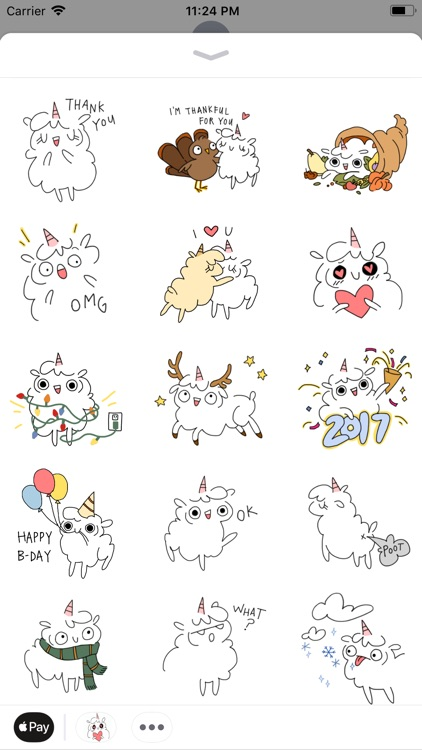 Fluffcorn Animated Stickers