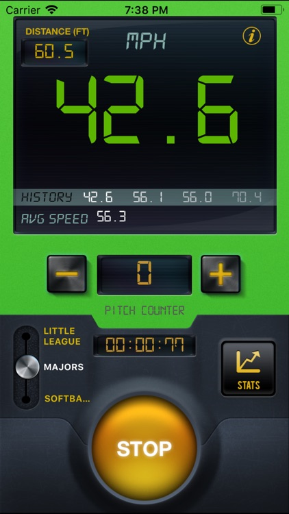 Baseball Speed Radar Gun Pro screenshot-4