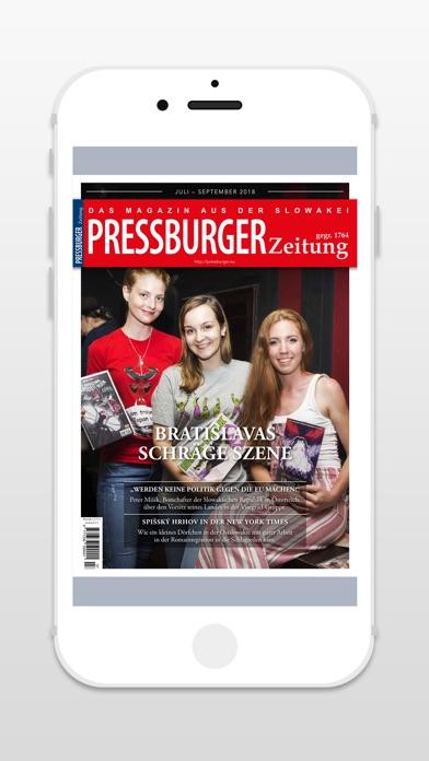 PRESSBURGER ZeitungScreenshot von 1