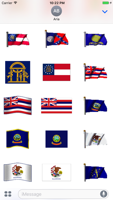 Animated Flags Of 50 US States screenshot three