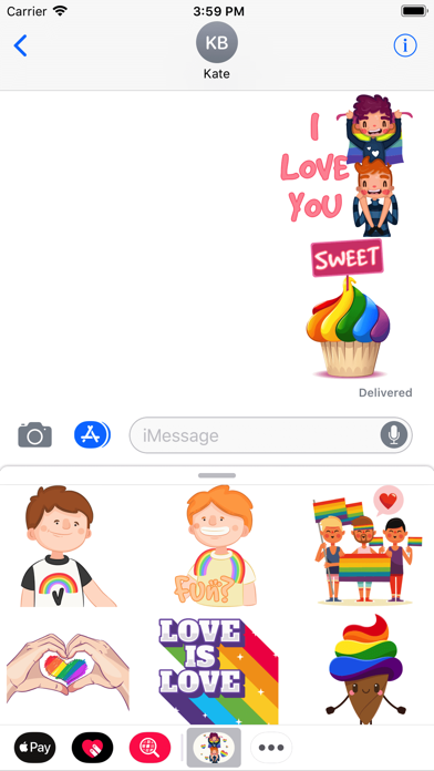 Pride Gay Couple Stickers screenshot two