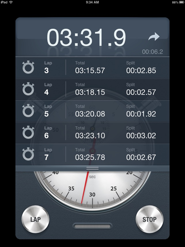Stopwatch+ for Track & Field Screenshot