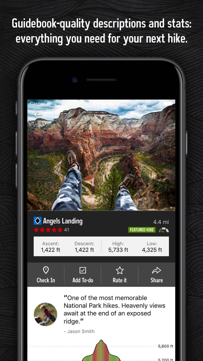 Hiking Project Screenshot