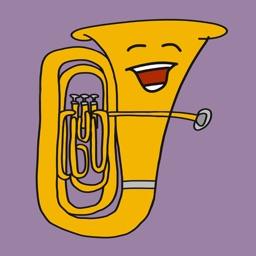 Tuba Guy Stickers