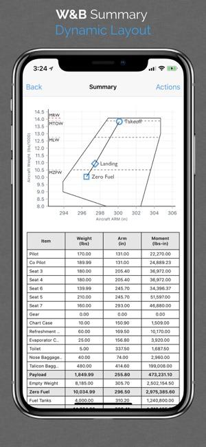 Aviation W&B Calculator Screenshot