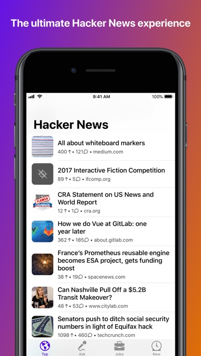 Hackers for Hacker News Screenshots