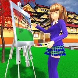Anime Girl Life High School 3D
