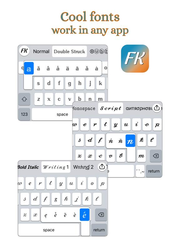 iPad Image of Fonts Keyboards