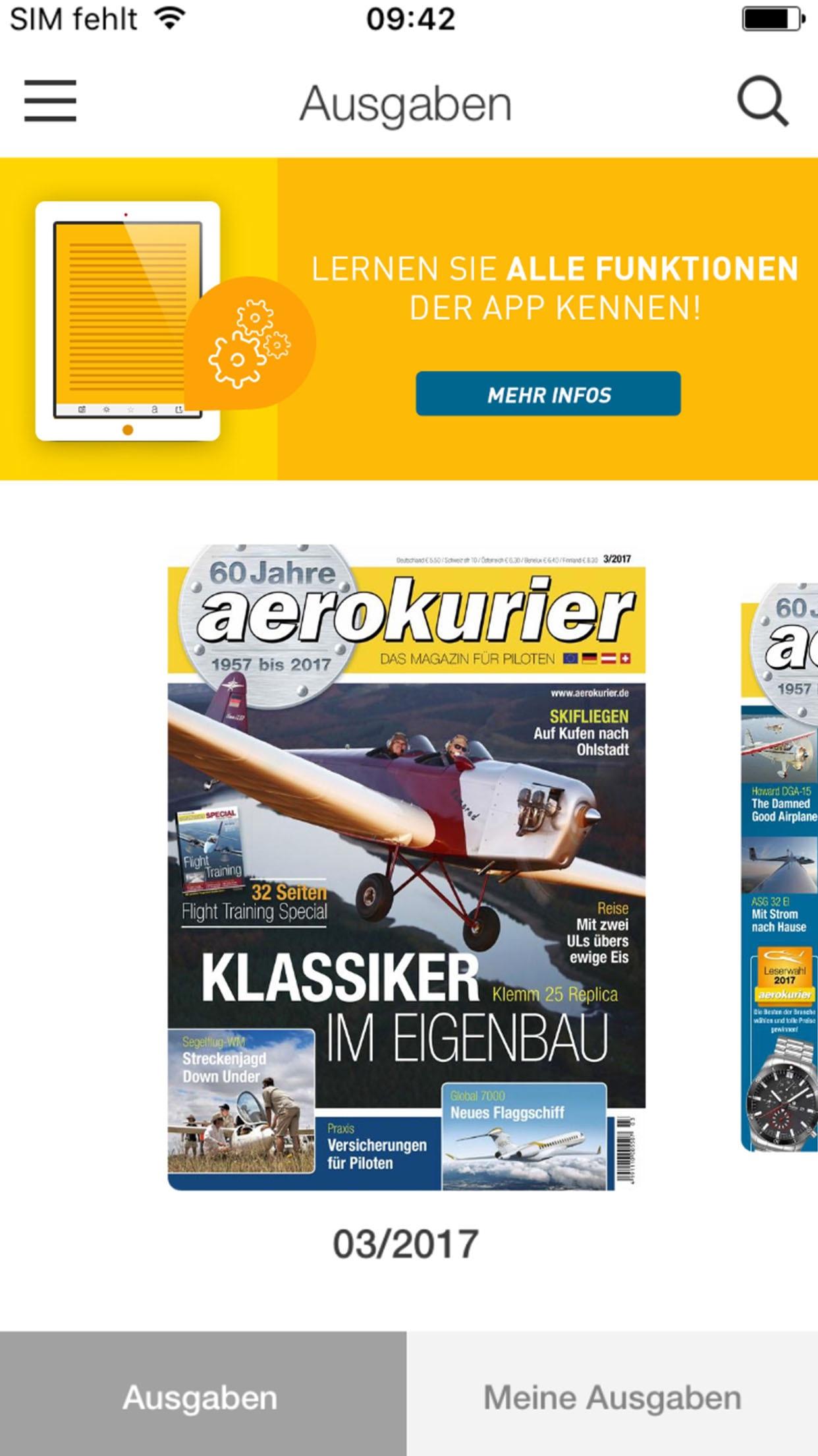 aerokurier E-Paper Screenshot