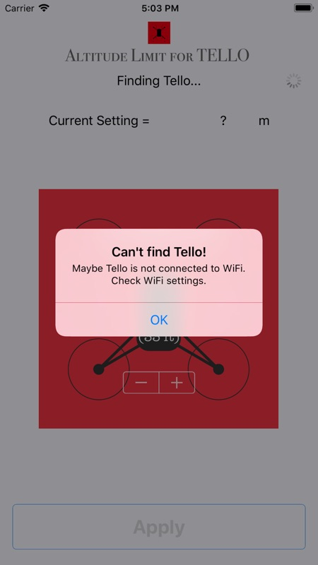 Altitude Limit for TELLO - Online Game Hack and Cheat