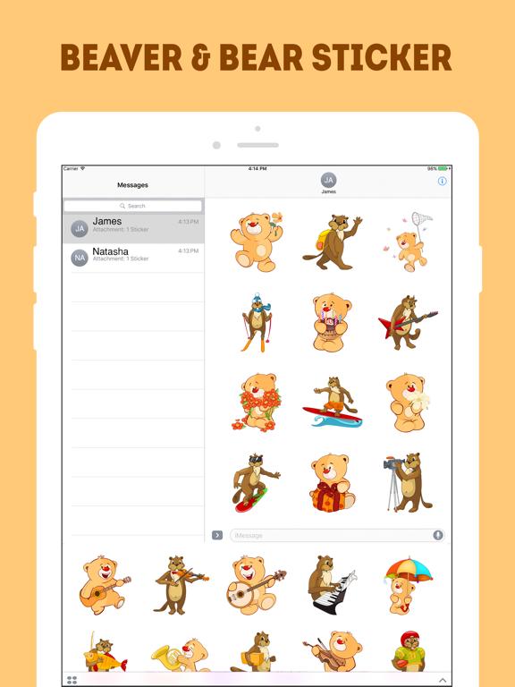 Ipad Screen Shot The Beaver and Bear Emojis 0