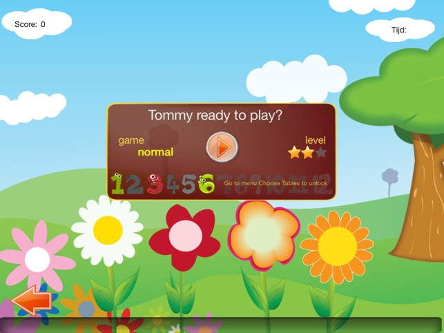Time Tables Game Screenshot