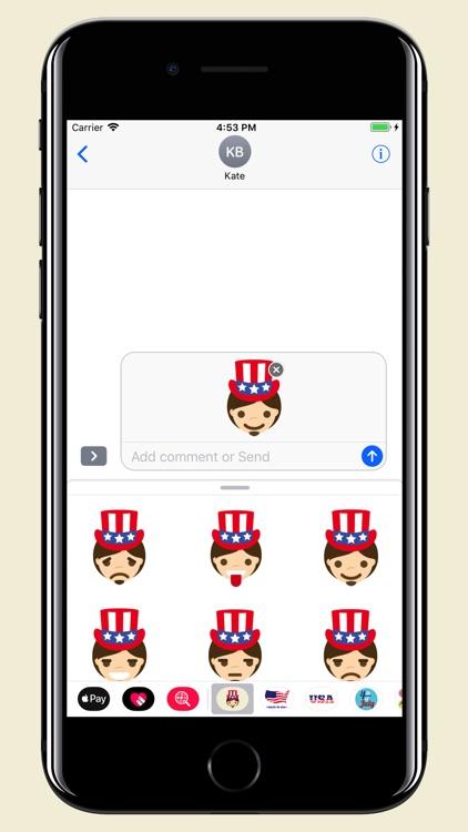 Uncle Sam - USA emoji pack screenshot-3