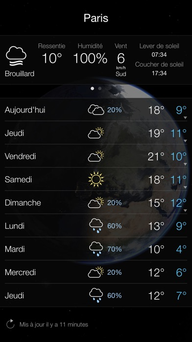 Screenshot for Living Earth - Clock & Weather in Lebanon App Store