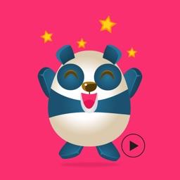 Panda & Cheerleaders Animated